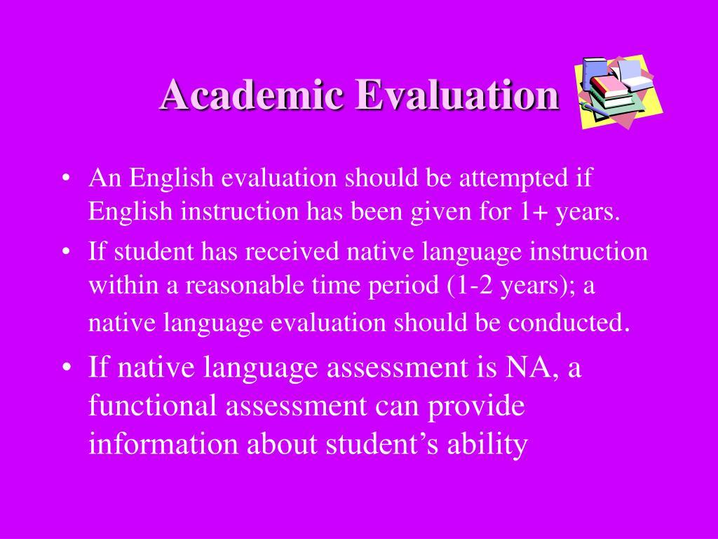 Academic Evaluation