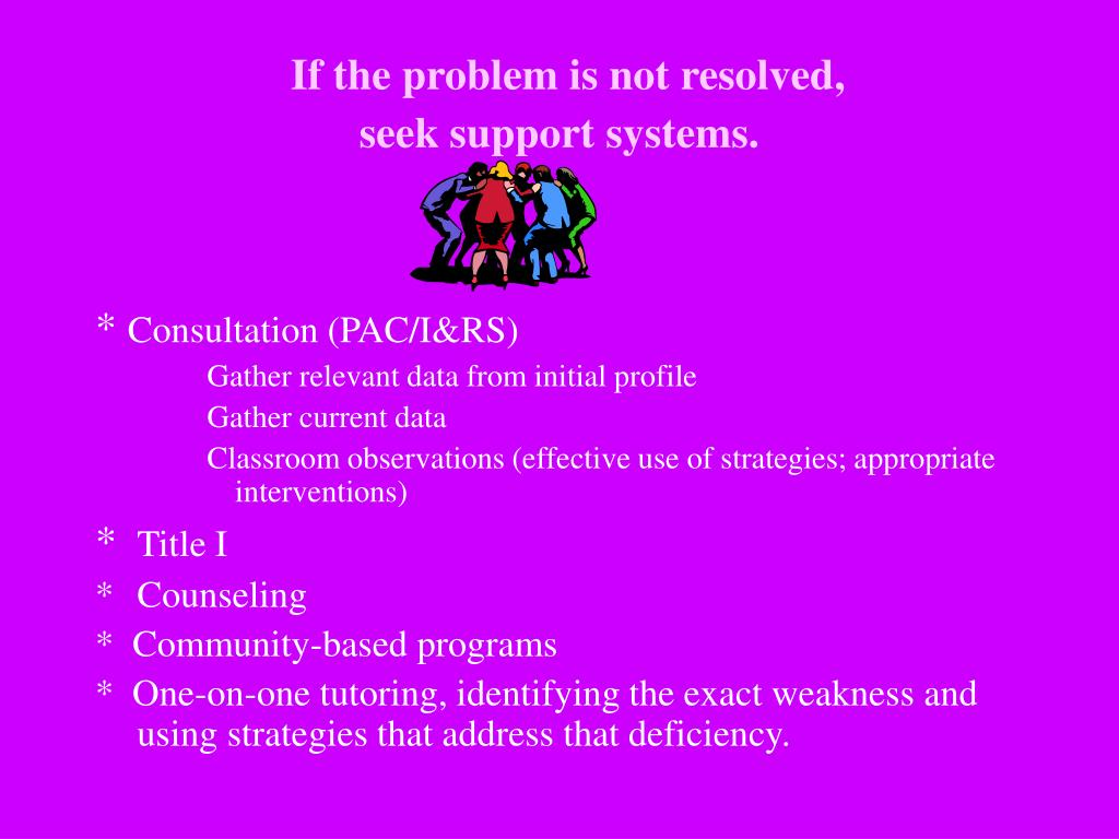If the problem is not resolved,