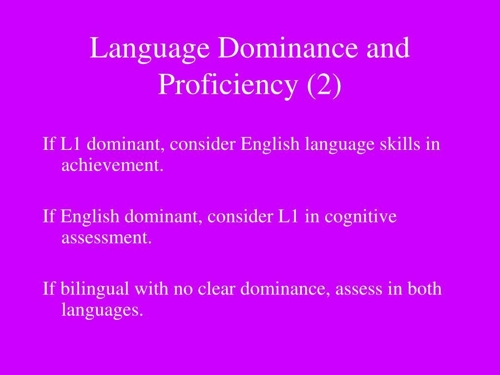 If L1 dominant, consider English language skills in achievement.