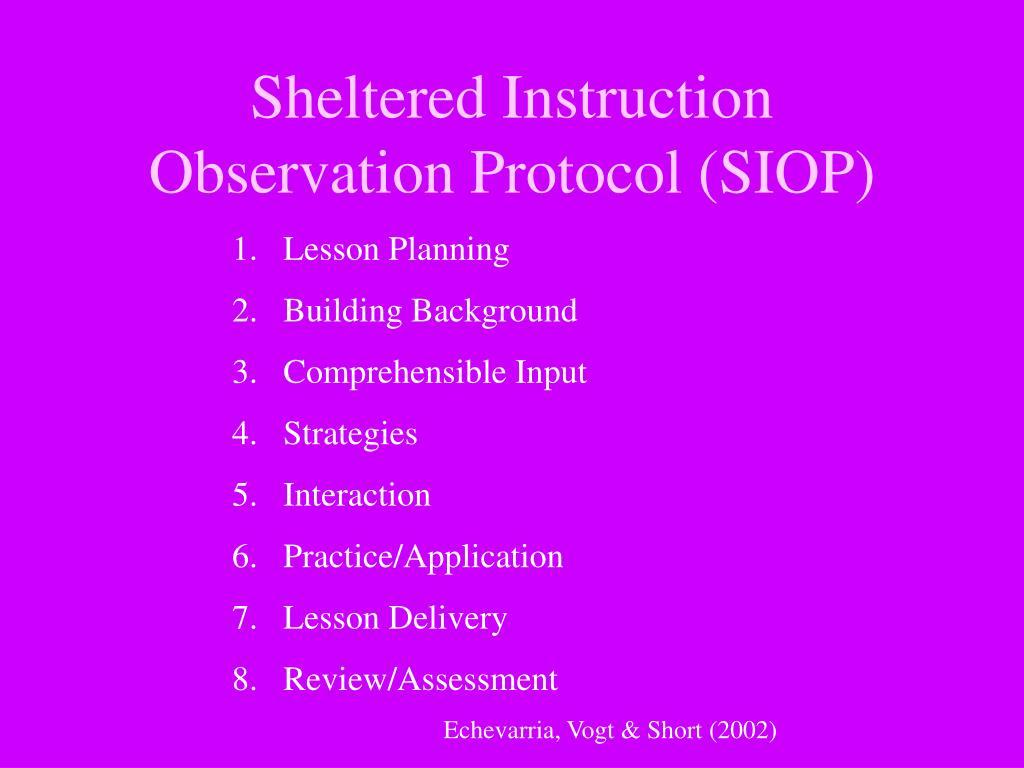 Sheltered Instruction