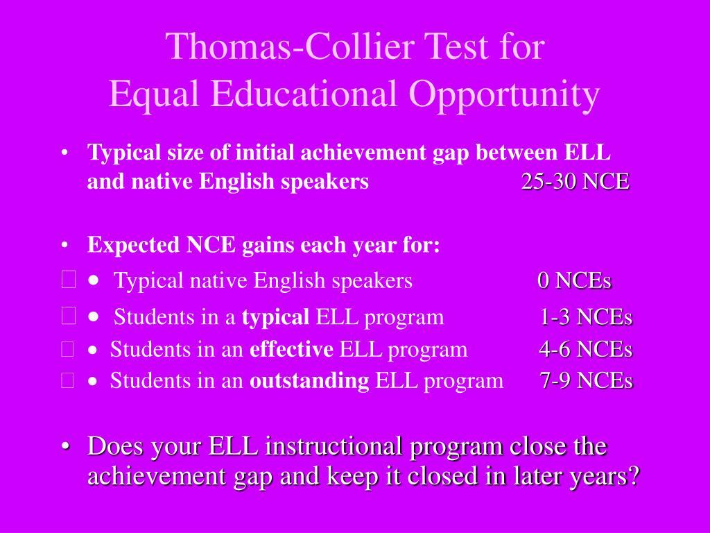 Thomas-Collier Test for