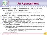 an assessment