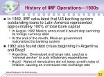 history of imf operations 1980s