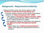 background requirements authority
