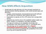 how sems affects acquisition