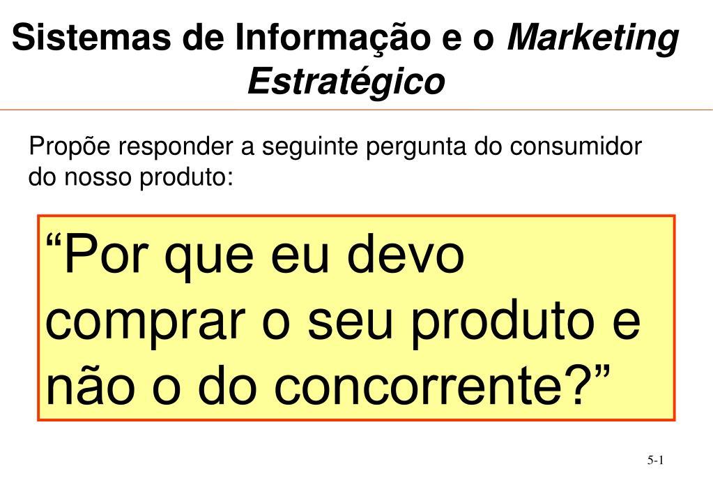 sistemas de informa o e o marketing estrat gico l.
