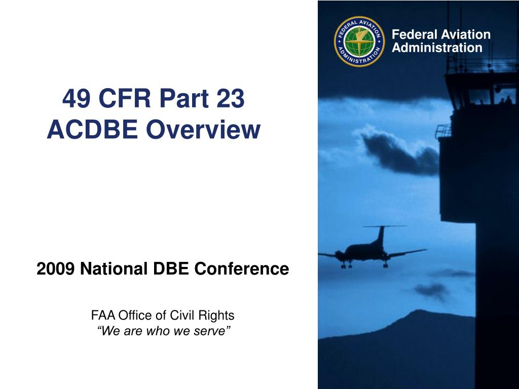 49 cfr part 23 acdbe overview l.