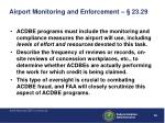airport monitoring and enforcement 23 29