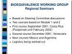 bioequivalence working group regional seminars