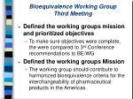 bioequivalence working group third meeting