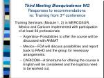 third meeting bioequivalence wg responses to recommendations re training from 3 rd conference29