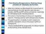 third meeting bioequivalence working group update of training activities27
