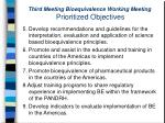 third meeting bioequivalence working meeting prioritized objectives