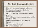 1900 1925 immigrant history