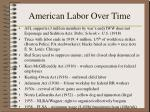 american labor over time162