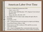 american labor over time163