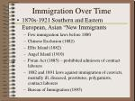immigration over time197