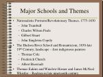 major schools and themes