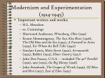modernism and experimentation 1914 1945230