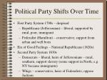 political party shifts over time