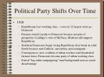 political party shifts over time188