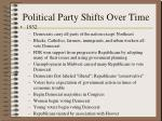 political party shifts over time189