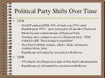 political party shifts over time190