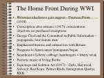 the home front during wwi