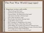 the post war world 1945 1990232