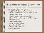 the romantic period 1820s 1860
