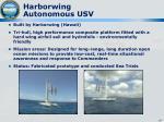 harborwing autonomous usv