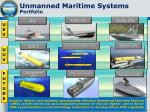 unmanned maritime systems portfolio