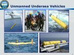 unmanned undersea vehicles