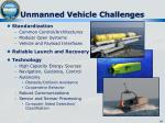 unmanned vehicle challenges