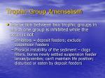 trophic group amensalism