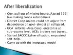 after liberalization