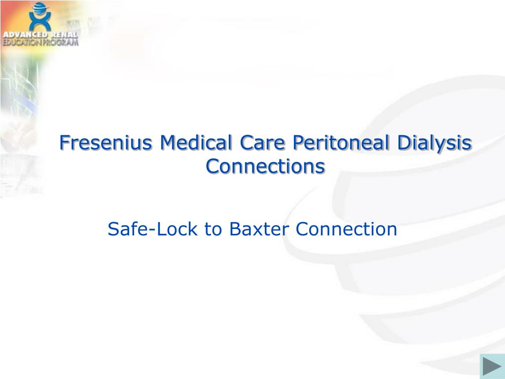 fresenius medical care peritoneal dialysis connections l.