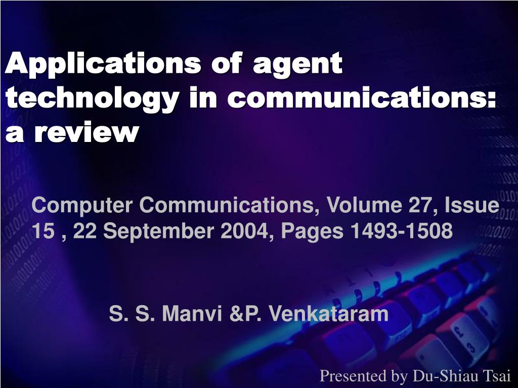 applications of agent technology in communications a review l.