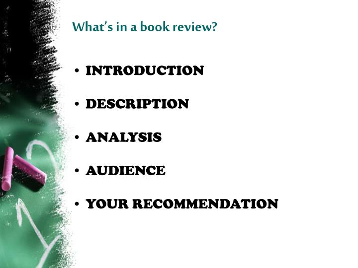 What s in a book review