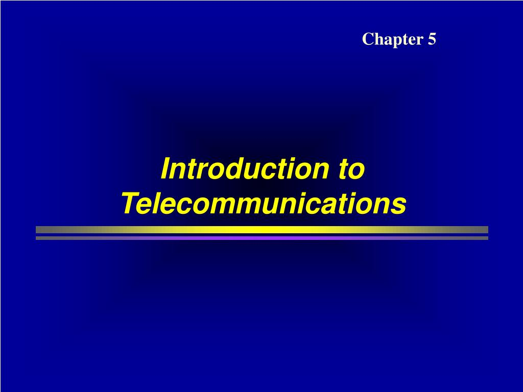 introduction to telecommunications l.