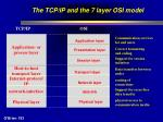 the tcp ip and the 7 layer osi model