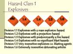 hazard class 1 explosives