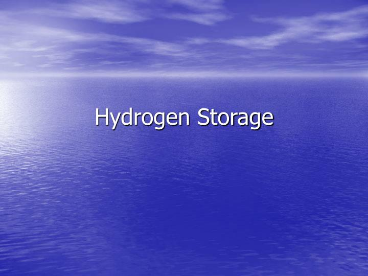 hydrogen storage n.