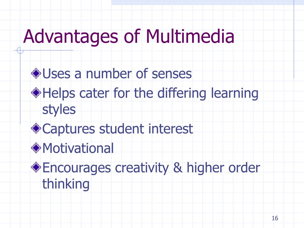 Advantages of Multimedia