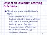 impact on students learning outcomes