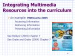 integrating multimedia resources into the curriculum