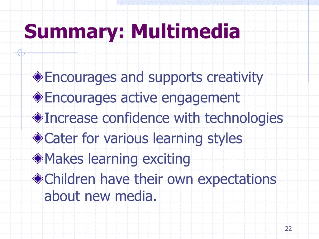 Summary: Multimedia