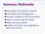 summary multimedia