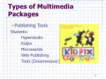 types of multimedia packages