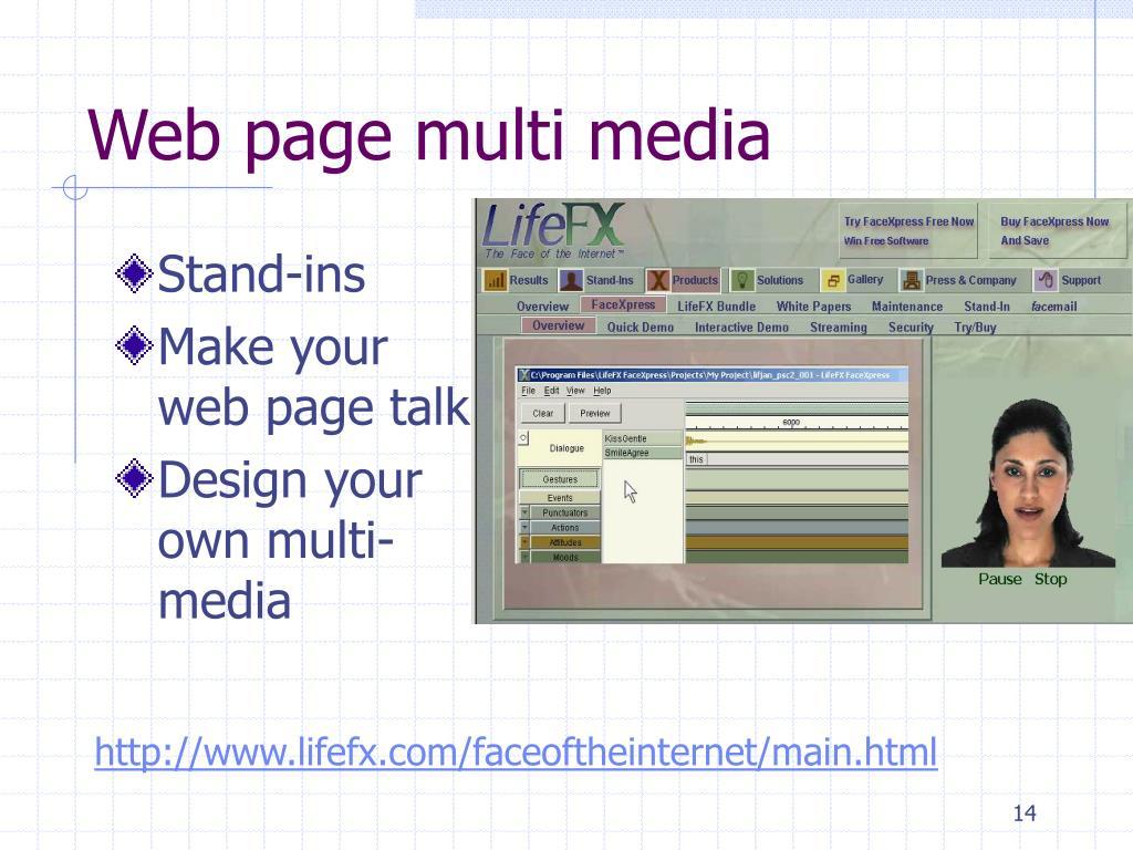 Web page multi media
